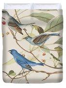 Indigo Bird Duvet Cover