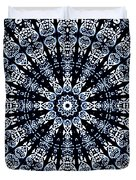 Indigo Flow Blue Kaleidoscope Duvet Cover