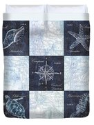 Indigo Nautical Collage Duvet Cover