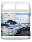 Indomitable Rock Duvet Cover