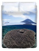 Indonesia, Coral Reef Duvet Cover