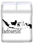 Indonesia In Black Duvet Cover