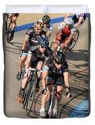 Indoor Bike Race Duvet Cover