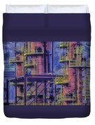 Industrial Archeology Refinery Plant 04 Duvet Cover by Enrico Pelos