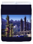 Industrial Archeology Refinery Plant 08 Duvet Cover