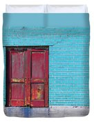 Industrial Red  Duvet Cover