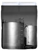 Industrial Storage Tanks Duvet Cover