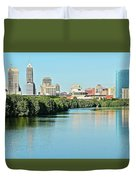 Indy White River View Duvet Cover