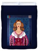 Ines De Castro - The Love Crowned Duvet Cover