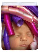 Infant With Ribbon Curls Duvet Cover