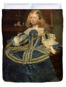 Infanta Margarita Teresa In A Blue Dress Duvet Cover