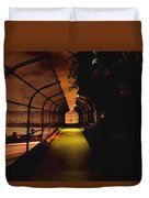 Infinite Bridge At Night Duvet Cover