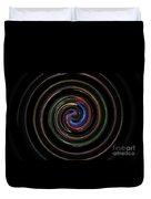Infinite, Ever Expanding Image. Colorful And Classic Spiral Digital Art That Can Enhance Your Mood. Duvet Cover