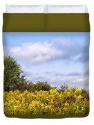 Infinite Gold Sunlight Landscape Duvet Cover