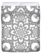 Infinite Lily In Black And White Duvet Cover