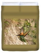 Inflight Feeding Bee Eater Duvet Cover
