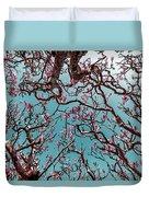 Infrared Frangipani Tree Duvet Cover