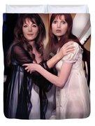 Ingrid Pitt And Madeline Smith Duvet Cover