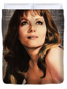 Ingrid Pitt, Vintage Actress Duvet Cover