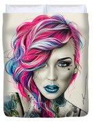 Inked Neon Duvet Cover