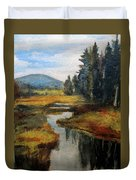 Inlet In Indian Lake Duvet Cover