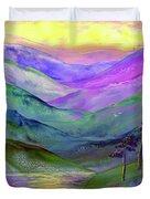 Inner Flame, Meditation Duvet Cover