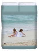 Innocence By The Sea Duvet Cover