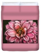 Insect - Bee - Center Of The Universe  Duvet Cover
