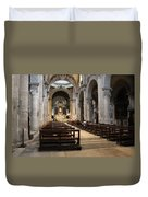 Inside Beautiful Church In Rome Duvet Cover