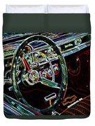 Inside Of A Classic Car Duvet Cover