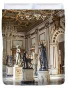 Inside One Of The Rooms Of The Capitoline Museums In Rome, Italy  Duvet Cover