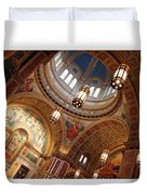 Inside Saint Matthew's Cathedral -- At An Angle Duvet Cover