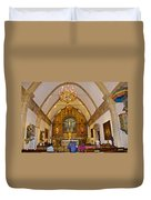 Inside Sanctuary At Carmel Mission-california  Duvet Cover