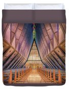 Inside The Cadet Chapel Duvet Cover