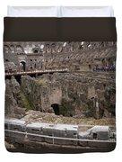Inside The Coliseum Duvet Cover