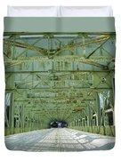 Inside The Falls Bridge - Winter Duvet Cover