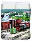 Inside The Train Yard Duvet Cover