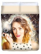 Inspiration Of A Creative Pinup Photographer  Duvet Cover