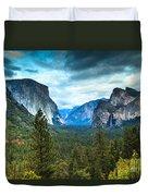 Inspiration Point Yosemite Duvet Cover