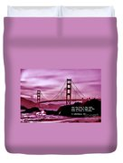 Inspirational - Nightfall At The Golden Gate Duvet Cover