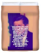 Inspirational Quotes - Motivational - John F. Kennedy 16 Duvet Cover