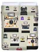 Instant Camera Pattern Duvet Cover