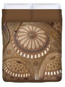Inter Domes Of Sultan Ahmed Mosque Duvet Cover
