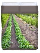 Intercropped Trees And Beans Duvet Cover