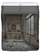Interior Furniture Atmosphere Of Abandoned Places Dig Photo Duvet Cover by Enrico Pelos