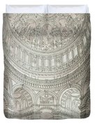 Interior Of Saint Pauls Cathedral Duvet Cover