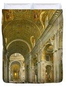 Interior Of St. Peter's - Rome Duvet Cover