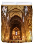Interior Of Strasbourg Cathedral Duvet Cover