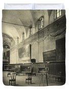 Interior Of The Dining Hall Of The Church Of Santa Maria Delle Grazie Milan Duvet Cover by Alinari