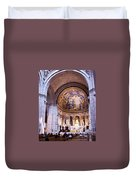Interior Sacre Coeur Basilica Paris France Duvet Cover